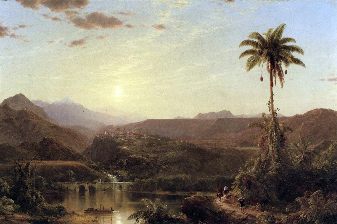The Cordilleras - Sunrise - Frederick Edwin Church