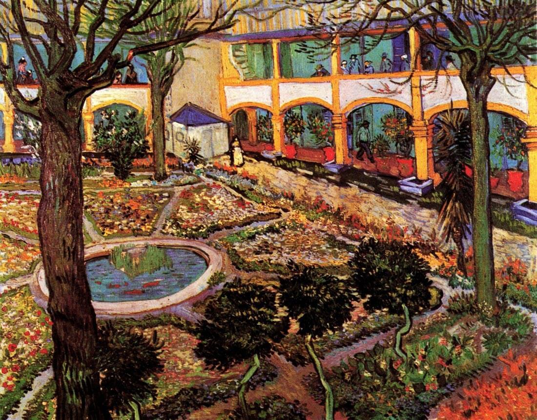 The Courtyard of the Hospital at Arles - Van Gogh