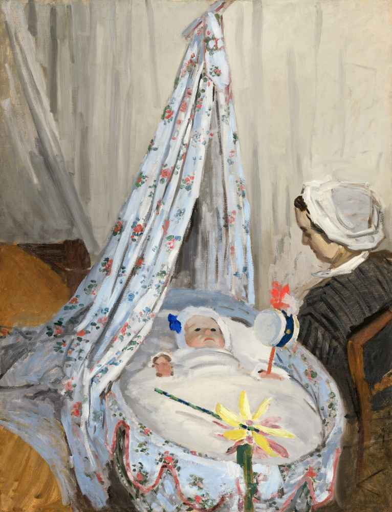 The Cradle Camille with the Artists Son Jean - Claude Monet