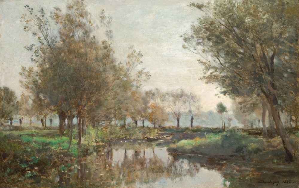 The Creek - Charles-Francois Daubigny