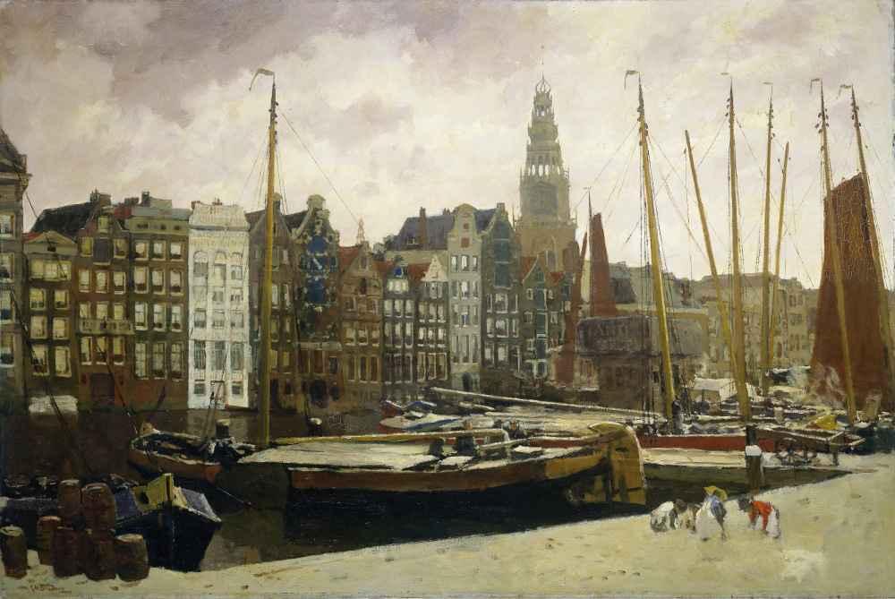 The Damrak, Amsterdam - George Hendrik Breitner