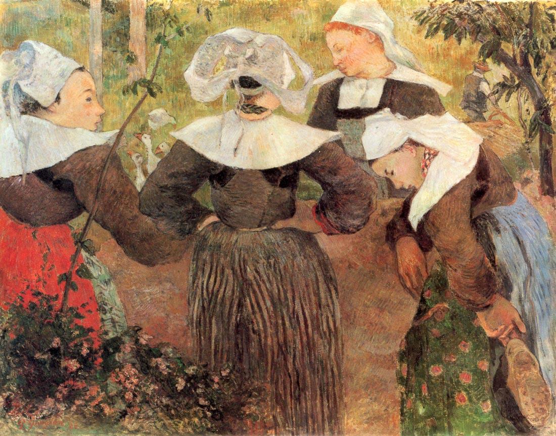 The Dance of 4 Women of Breton - Gauguin