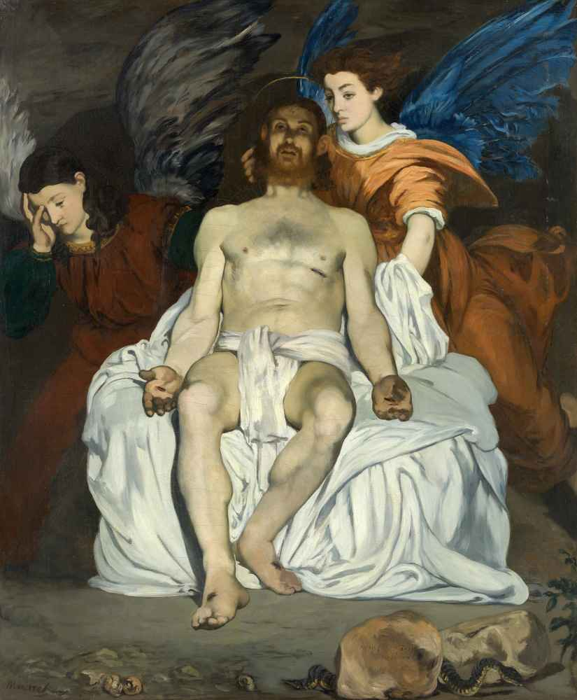 The Dead Christ with Angels - Edouard Manet