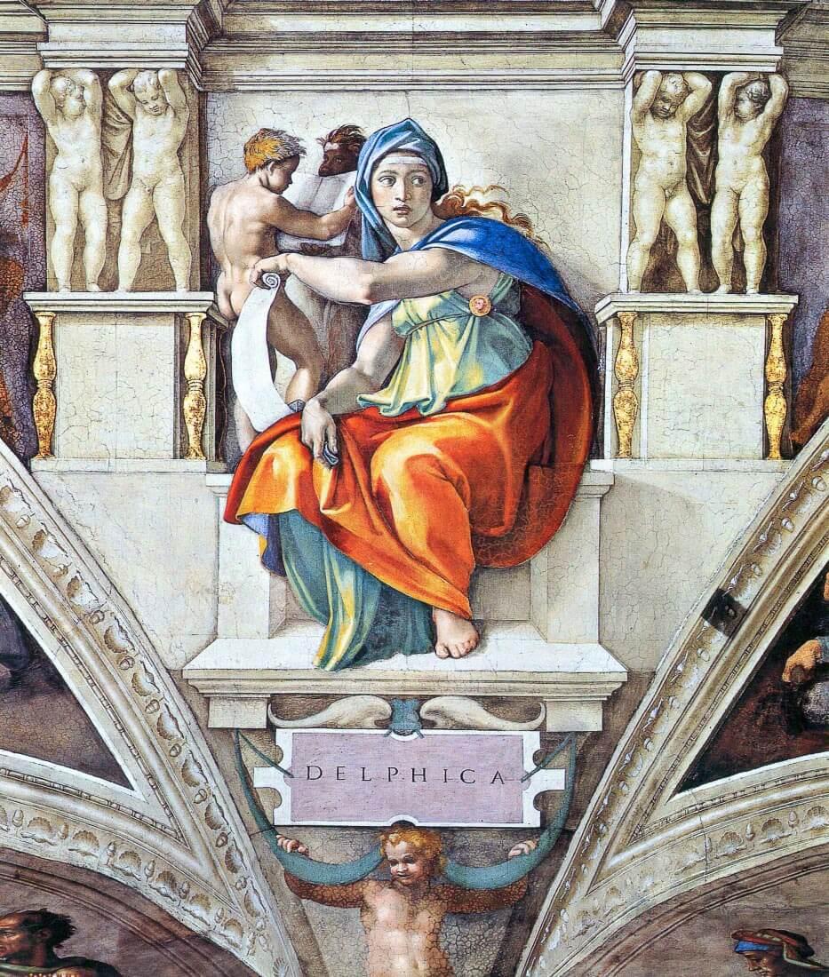 The Delphic Sybelle - Michelangelo