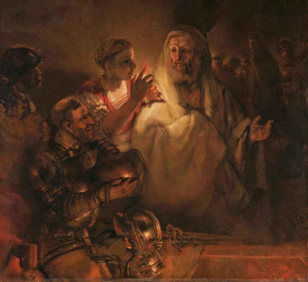 The Denial of St Peter - Rembrandt Harmenszoon van Rijn