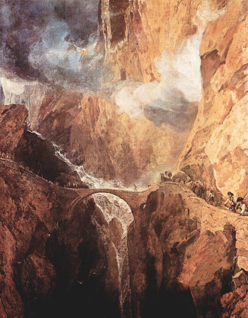 The Devil Bridge St. Gotthard - Joseph Mallord Turner