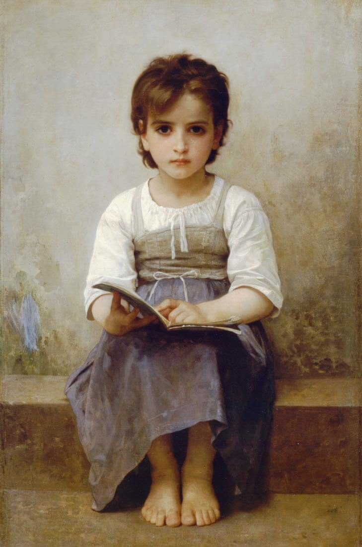 The Difficult Lesson - Bouguereau