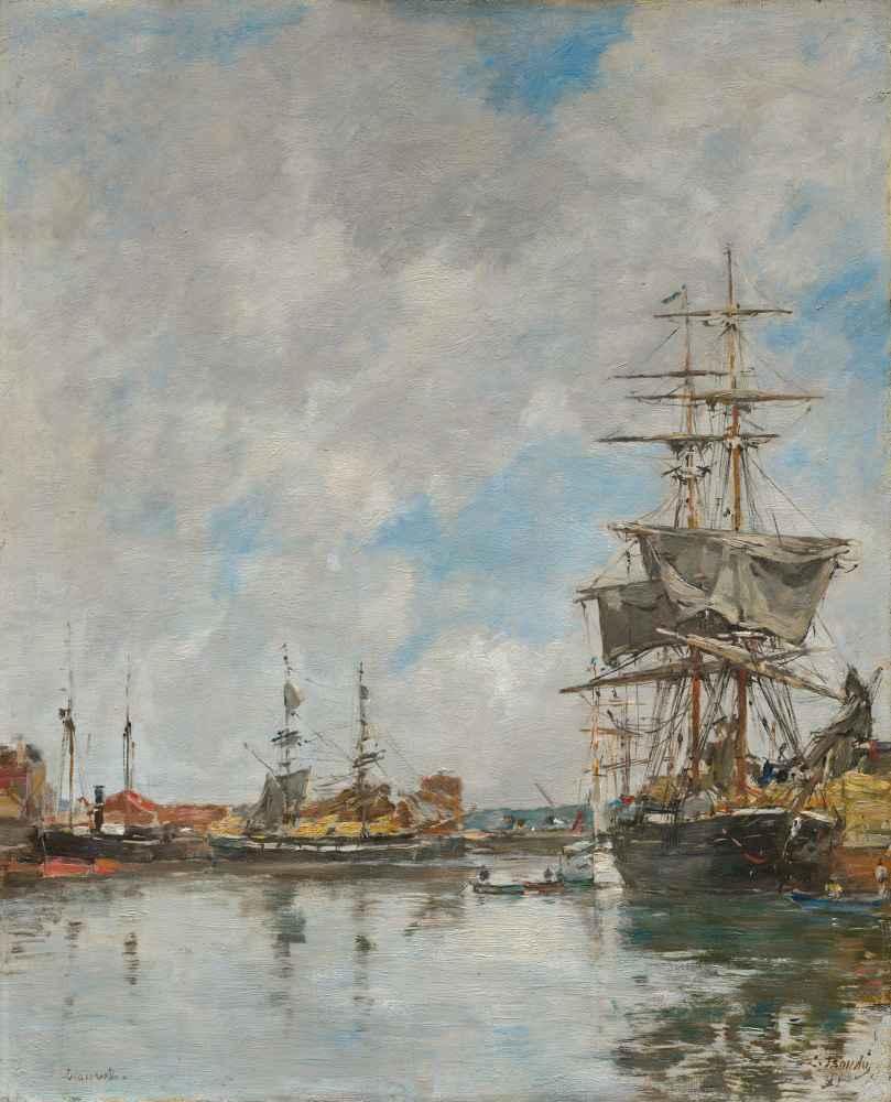 The Dock of Deauville - Eugene Boudin