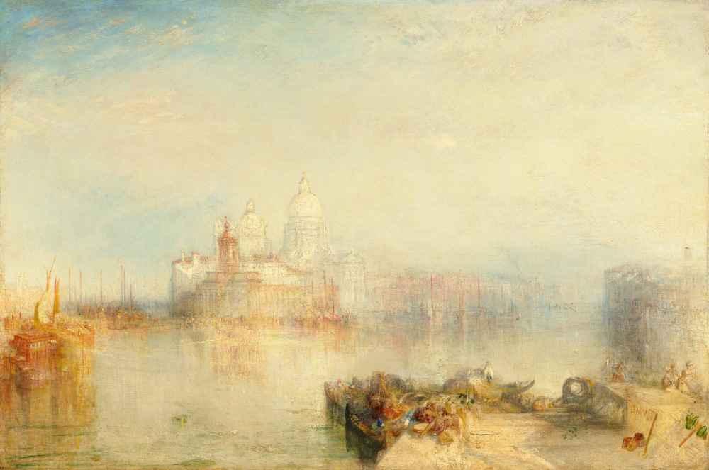 The Dogana and Santa Maria della Salute, Venice - Joseph Mallord Willi