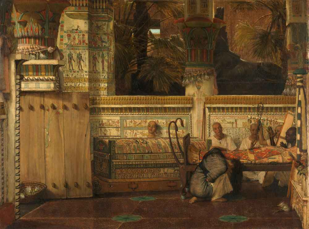 The Egyptian Widow - Lawrence Alma-Tadema