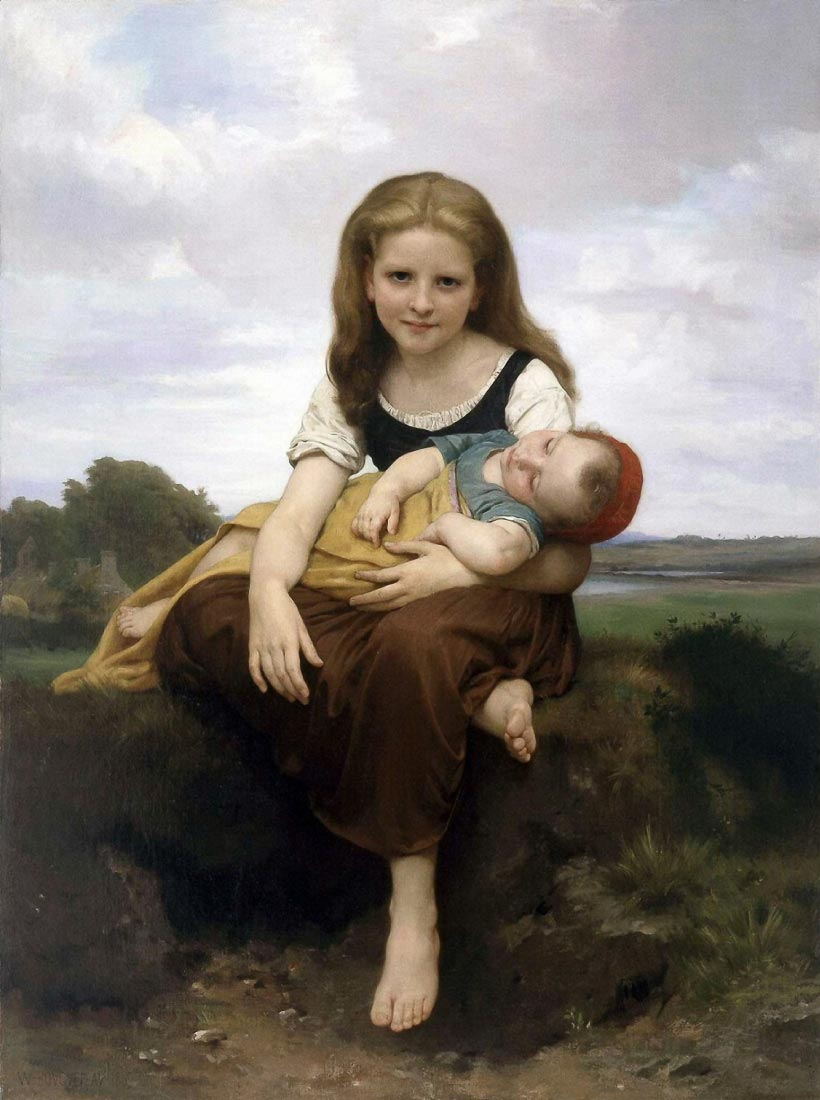 The Elder Sister - Bouguereau