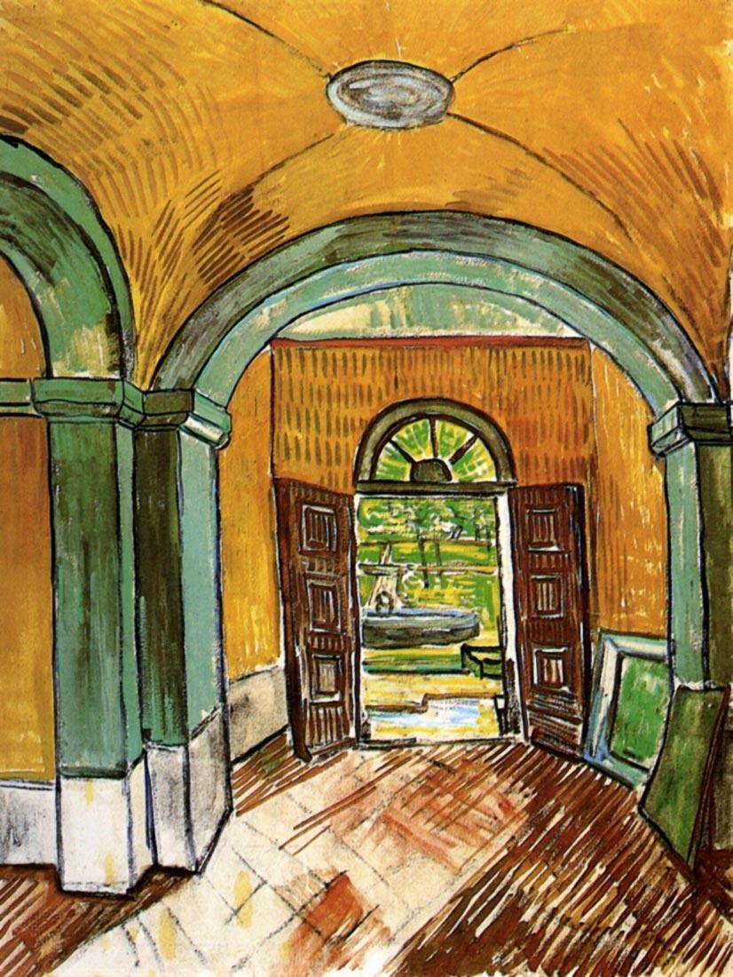 The Entrance Hall of Saint-Paul Hospital - Van Gogh