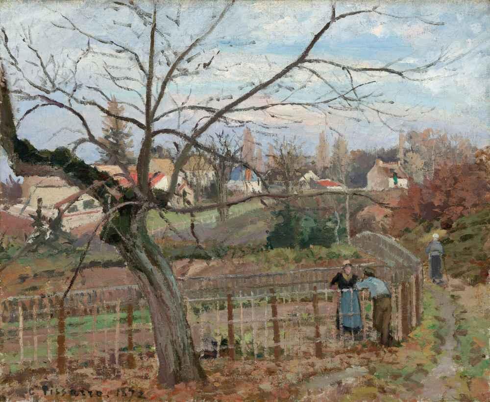 The Fence - Camille Pissarro