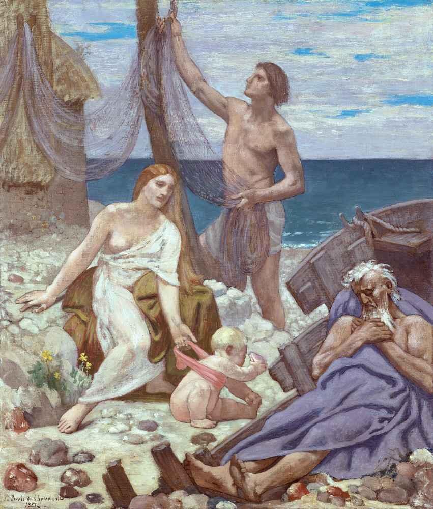 The Fisherman's Family - Pierre Puvis de Chavannes