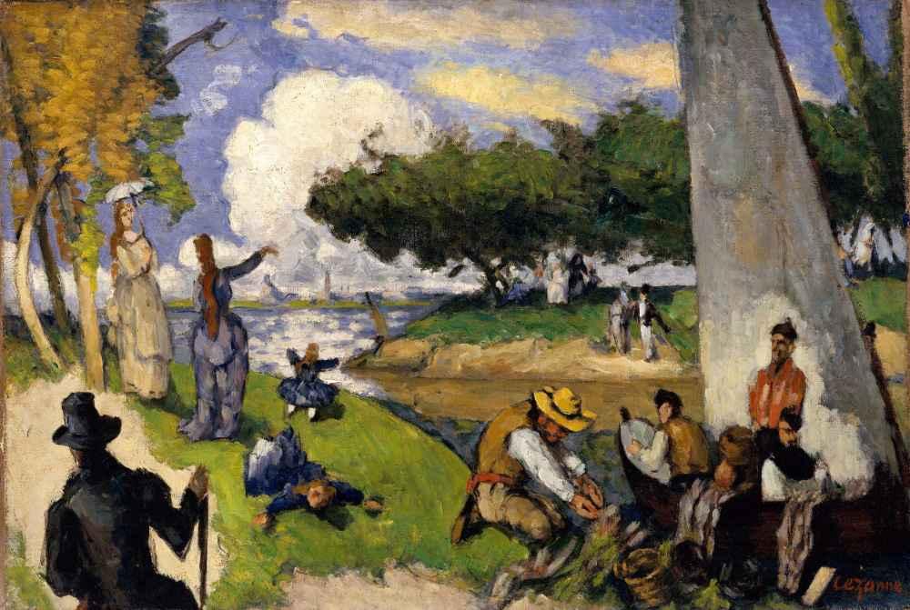 The Fishermen (Fantastic Scene) - Paul Cezanne