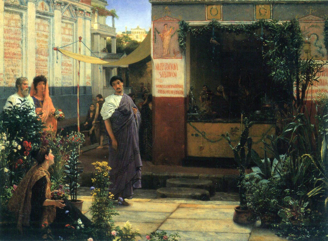 The Flower Market - Alma-Tadema