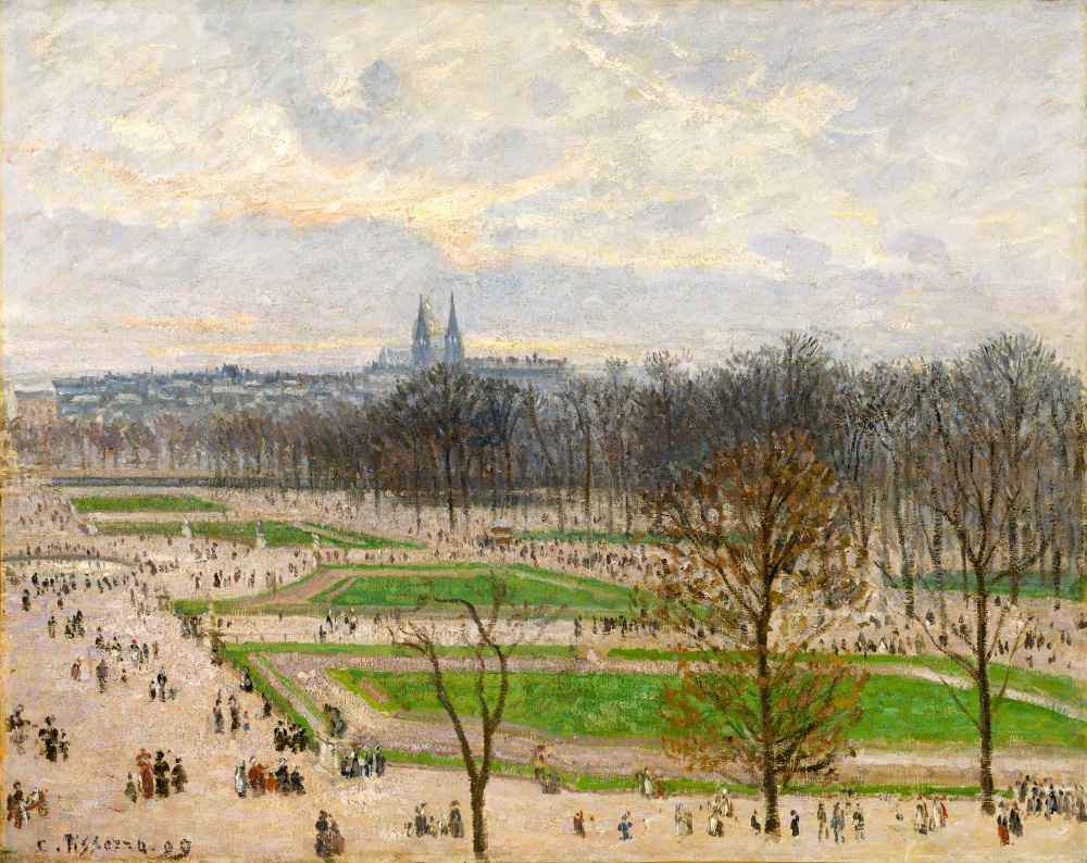 The Garden of the Tuileries on a Winter Afternoon 2 - Camille Pissarro