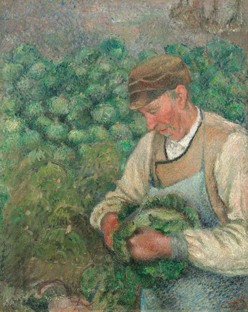The Gardener - Old Peasant with Cabbage - Camille Pissarro