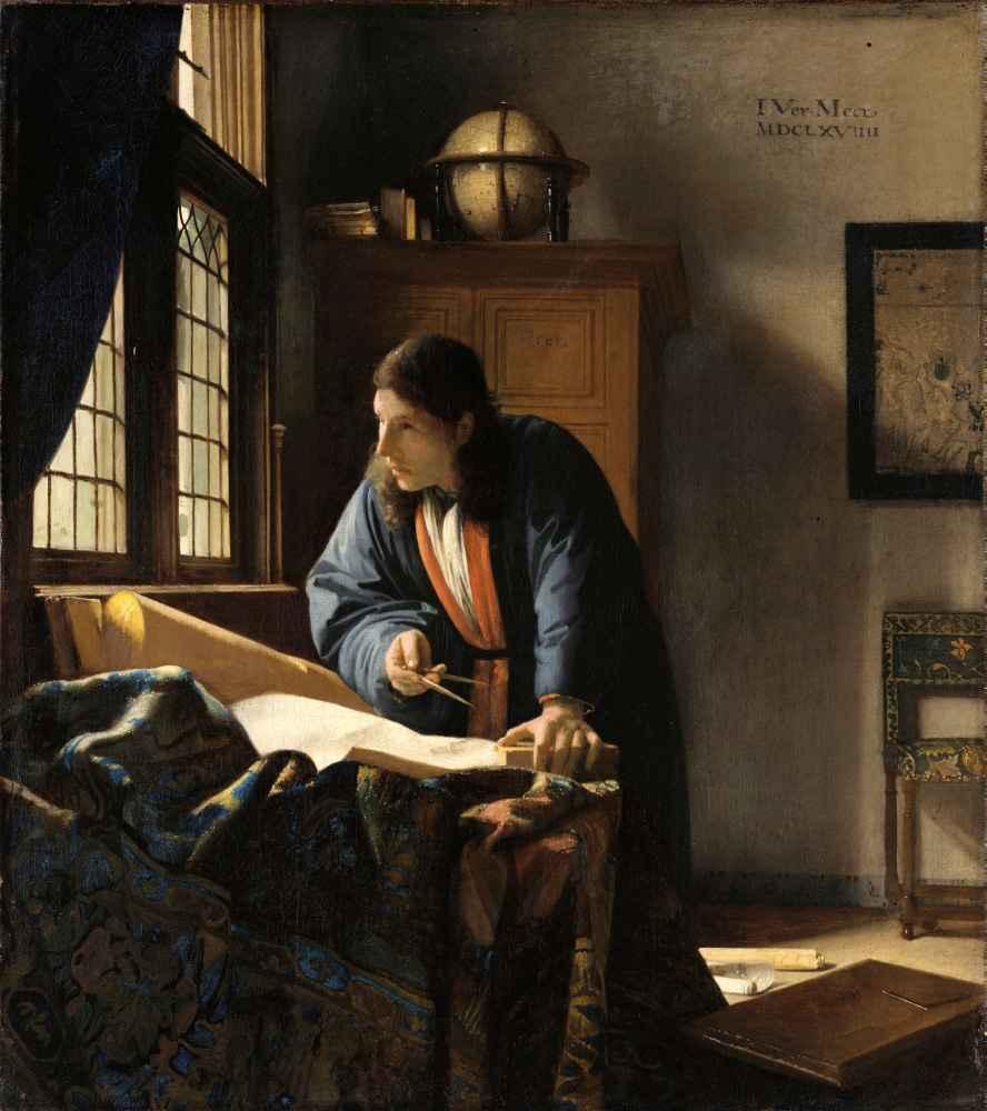 The Geographer, 1669 - Jan Vermeer
