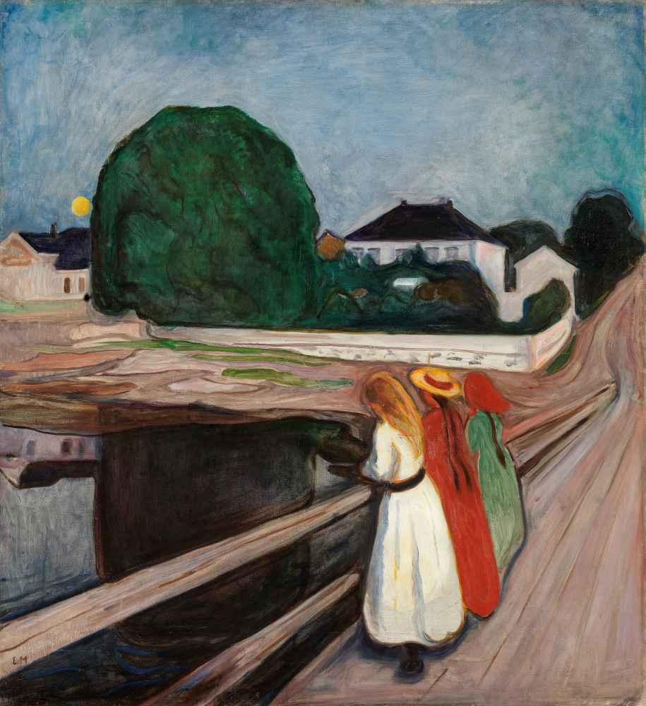 The Girls on the Bridge - Edward Munch