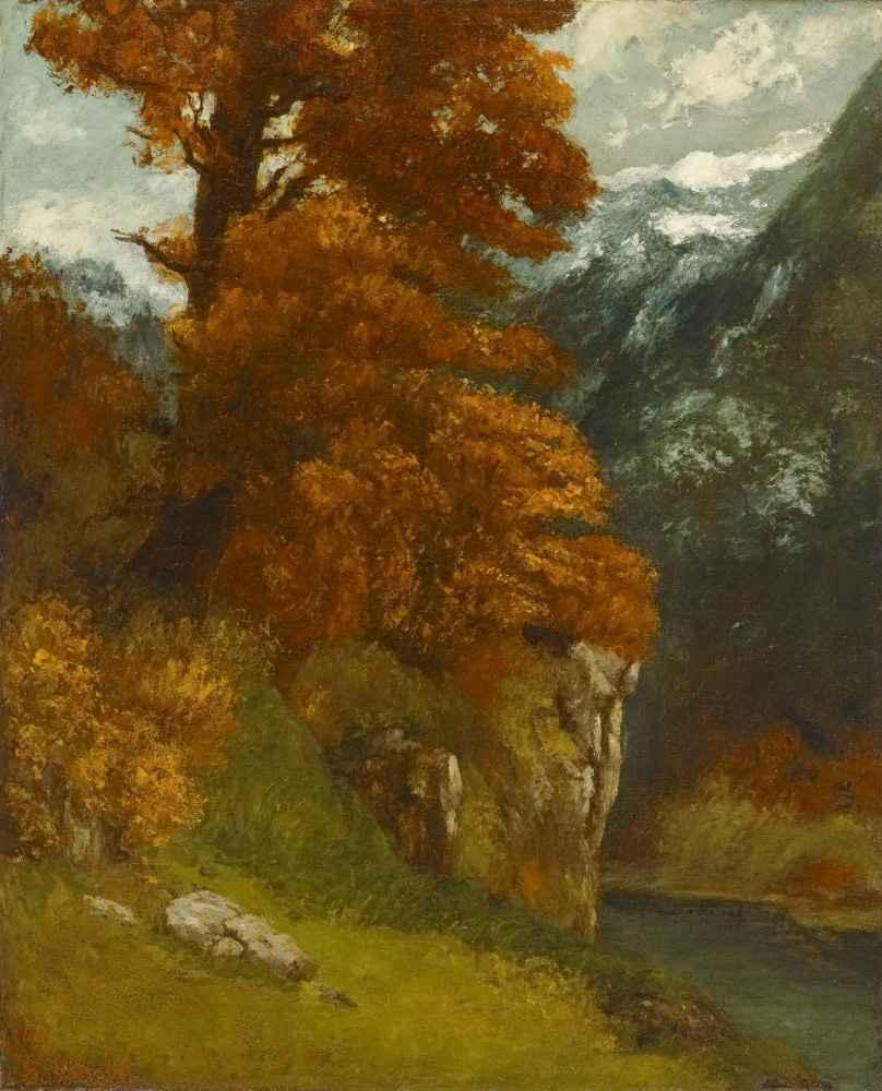 The Glen at Ornans (Bords du Doubs; Effet d'Automne) - Gustave Courbet