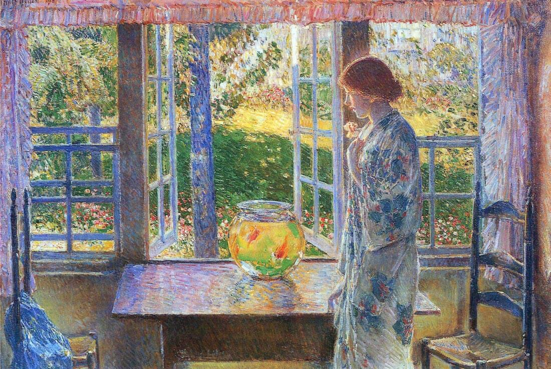 The Goldfish Window - Hassam