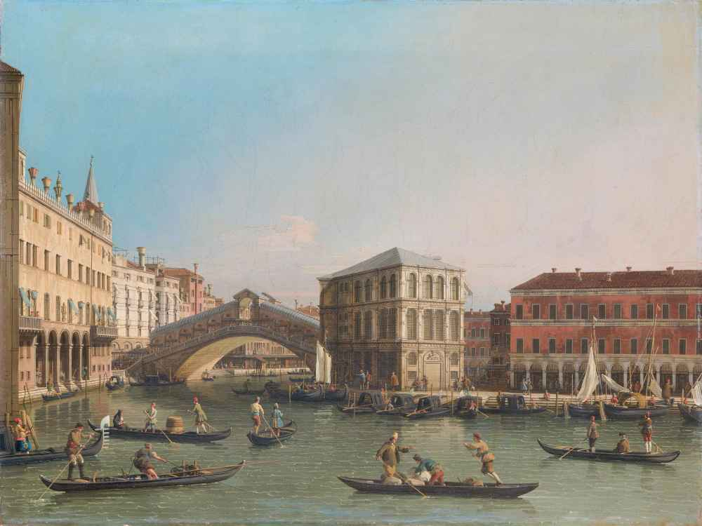 The Grand Canal with the Rialto Bridge and the Fondaco dei Tedeschi -