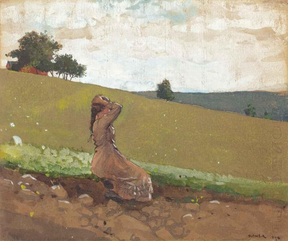 The Green Hill - Winslow Homer