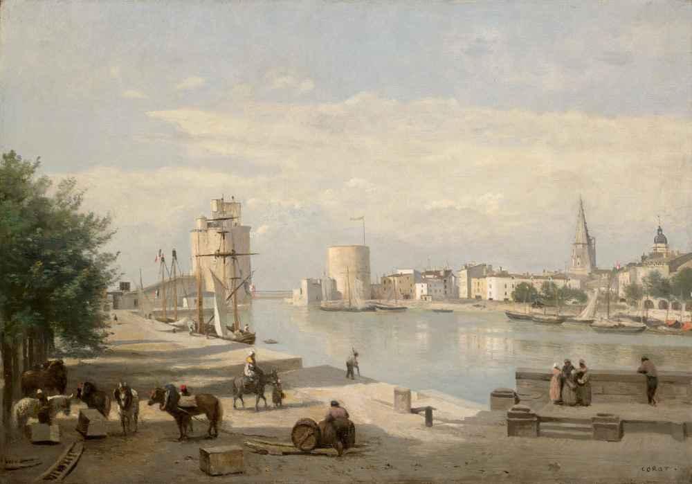 The Harbor of La Rochelle - Jean Baptiste Camille Corot