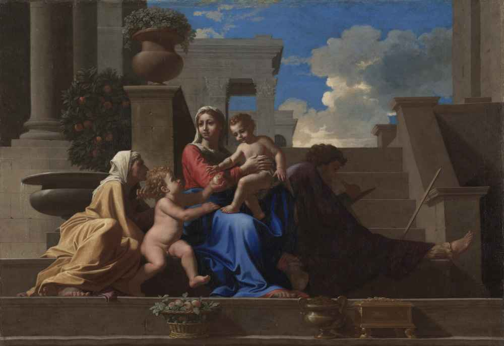 The Holy Family on the Steps - Nicolas Poussin