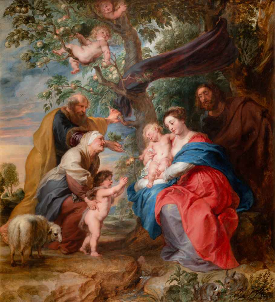 The Holy Family under an Apple Tree - Peter Paul Rubens