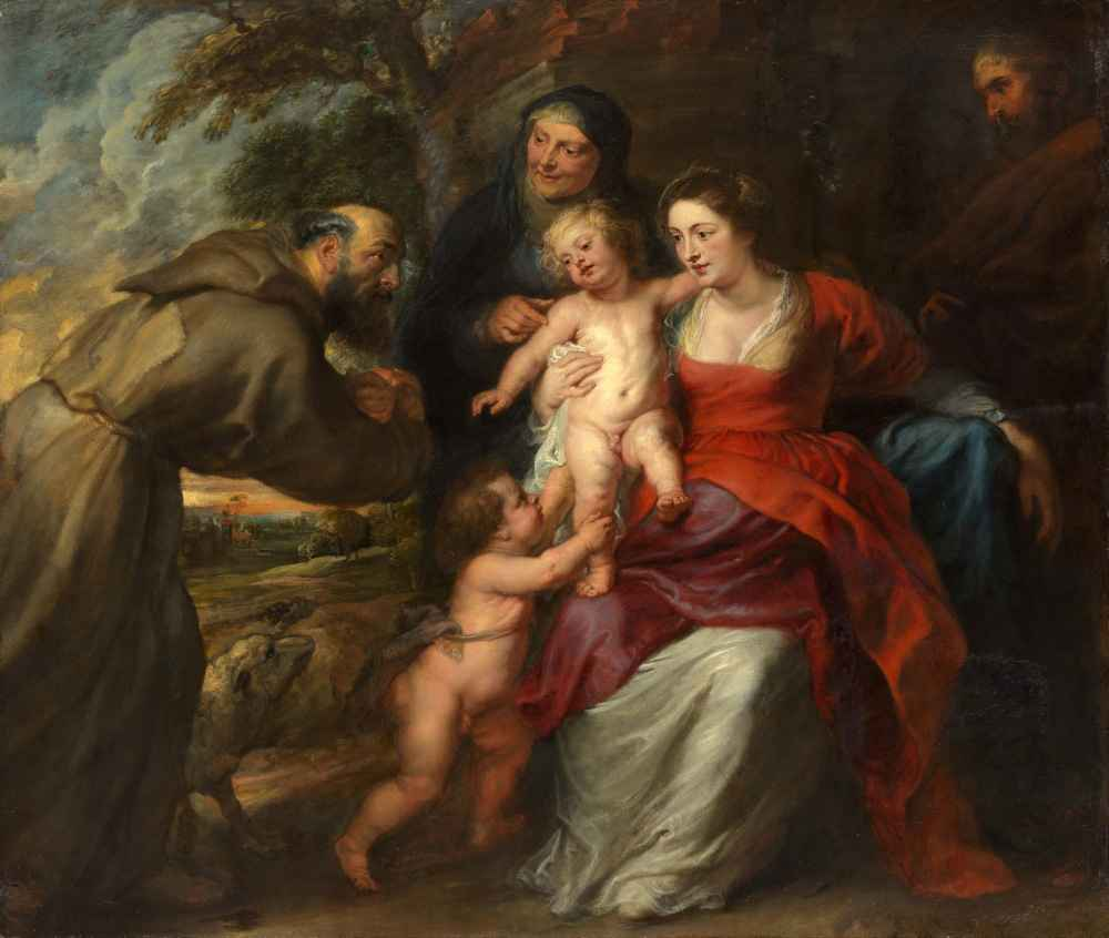 The Holy Family with Saints Francis and Anne and the Infant Saint John