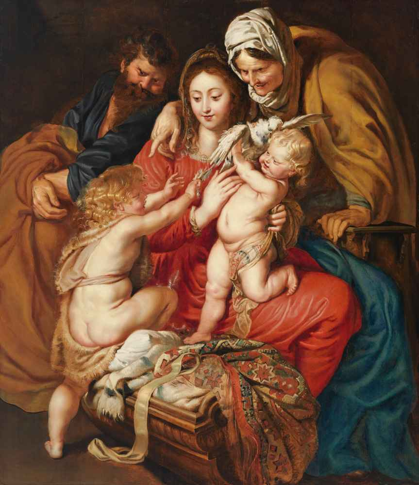The Holy Family with St. Elizabeth, St. John, and a Dove - Peter Paul
