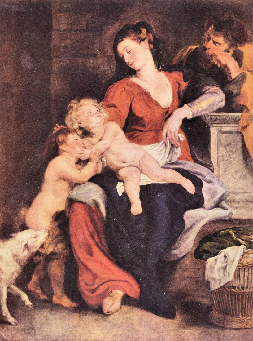 The Holy Family with the basket - Rubens