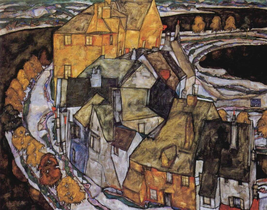 The House-Bend, or Island City - Schiele