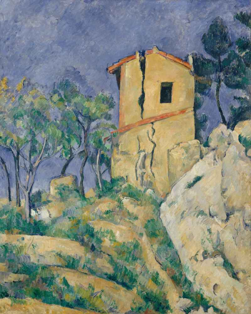The House with the Cracked Walls - Paul Cezanne