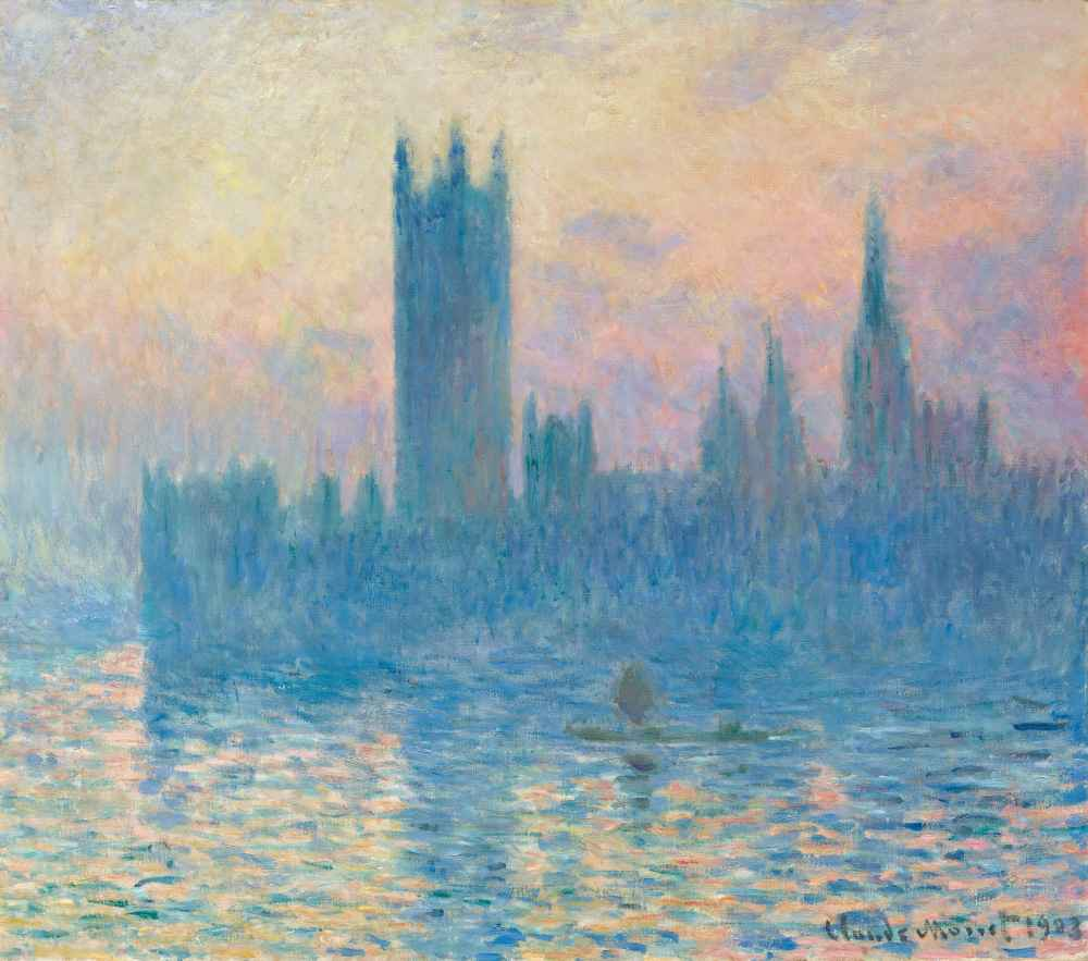The Houses of Parliament, Sunset 2 - Claude Monet