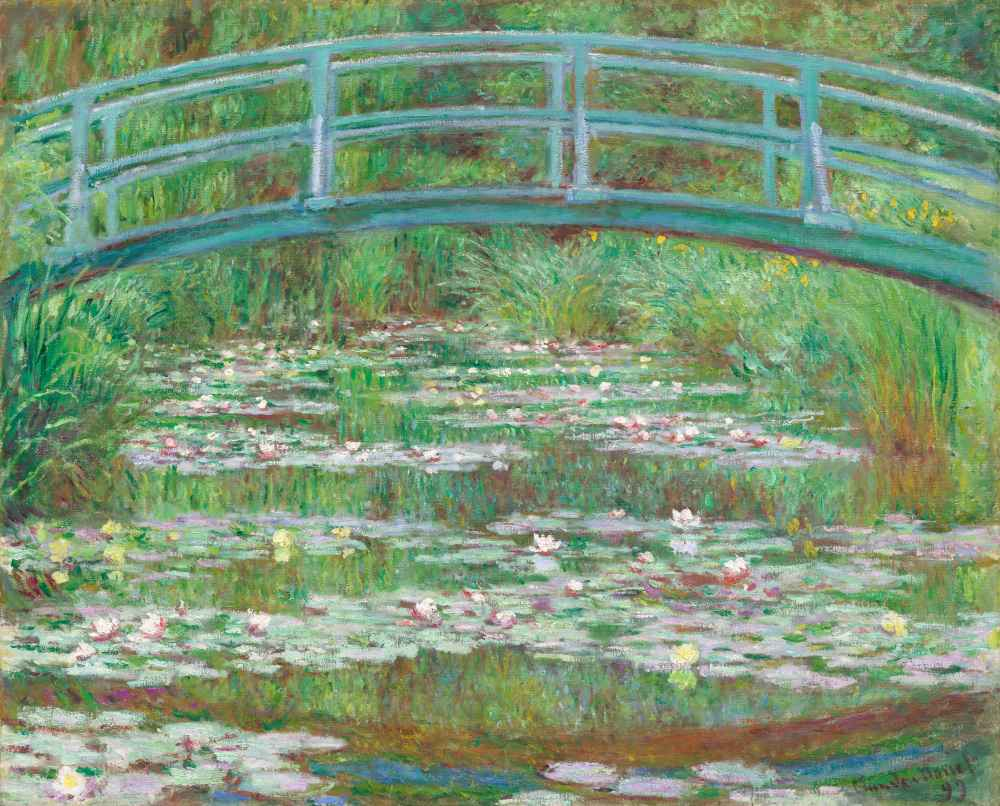 The Japanese Footbridge - Claude Monet