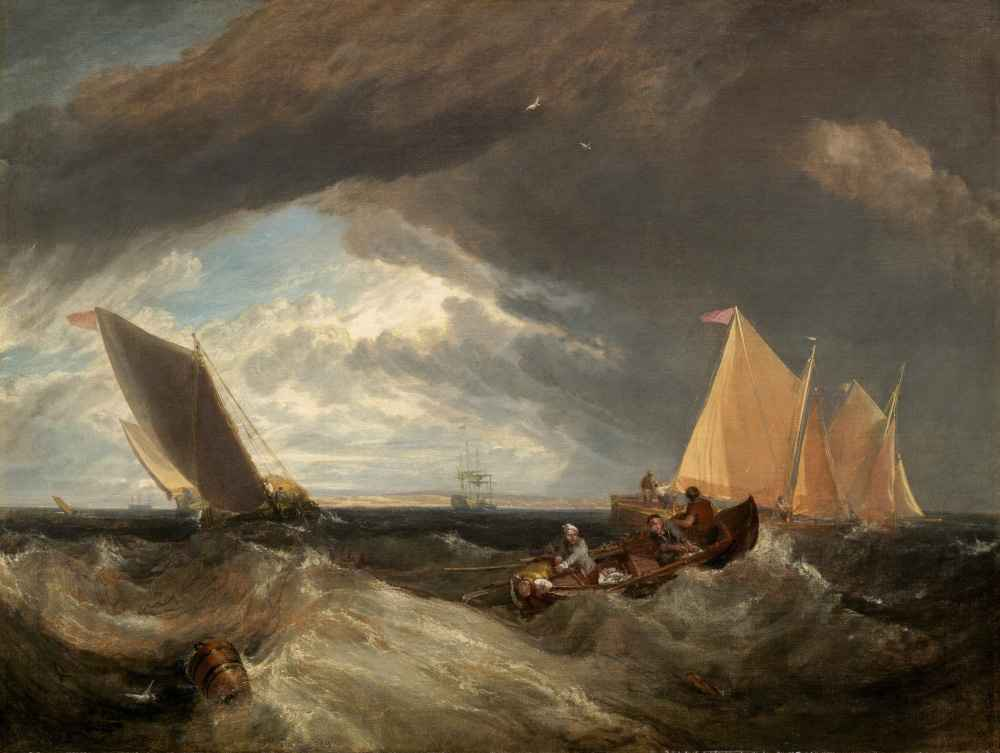 The Junction of the Thames and the Medway - Joseph Mallord William Tur