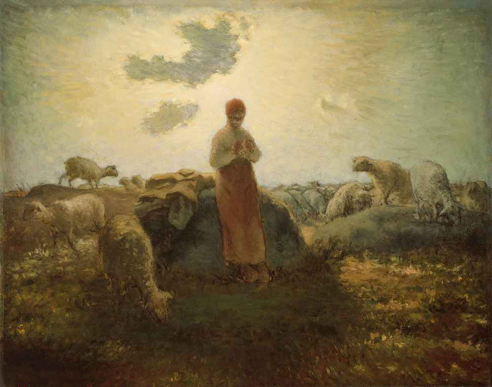 The Keeper of the Herd - Jean Francois Millet