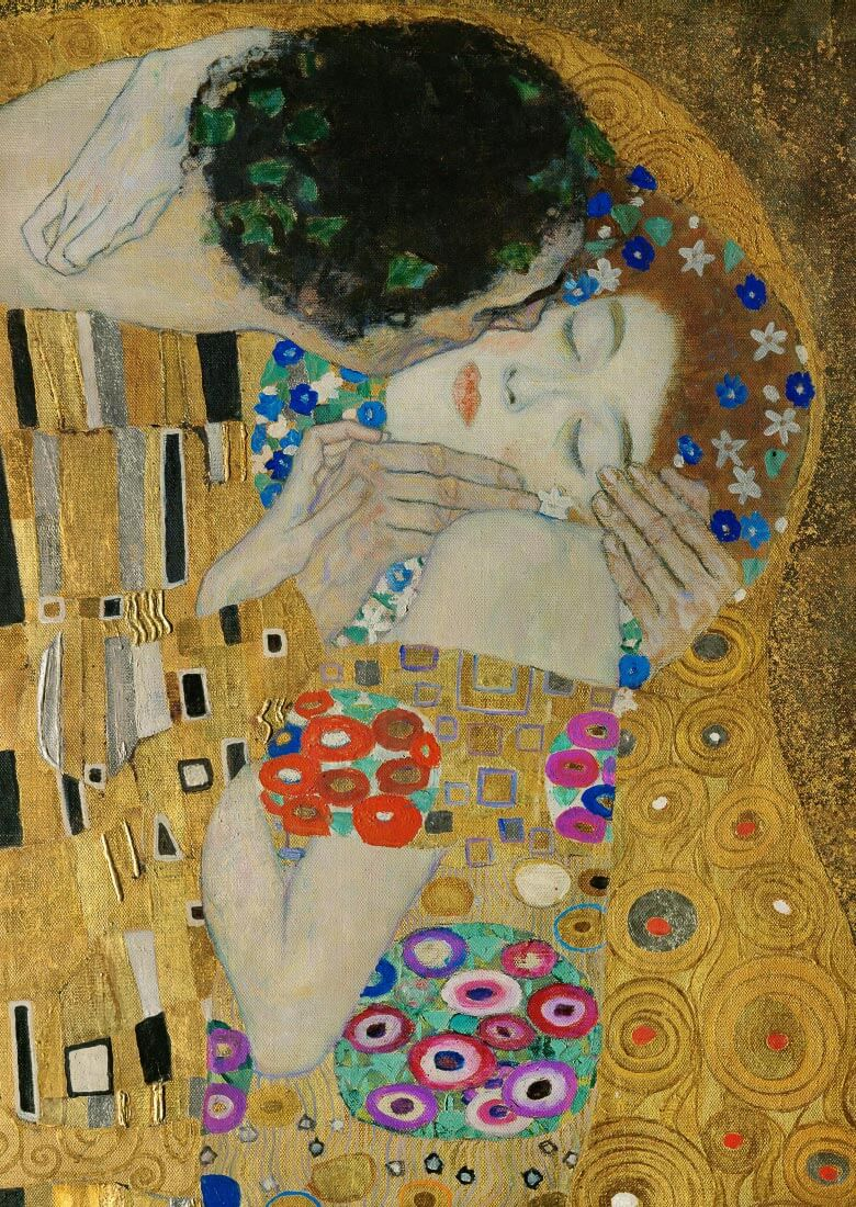 The Kiss details - Klimt