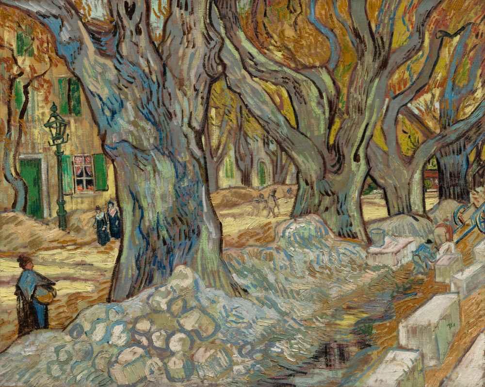 The Large Plane Trees (Road Menders at Saint-Rémy) - Vincent van Gogh
