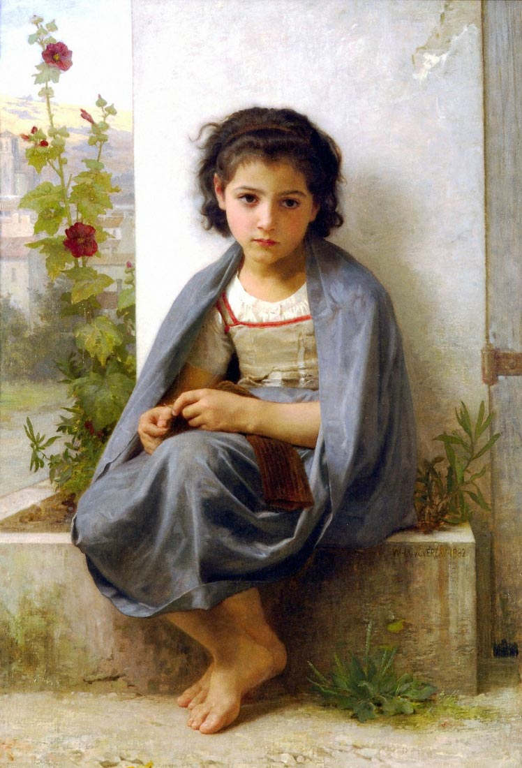 The Little Knitter - Bouguereau