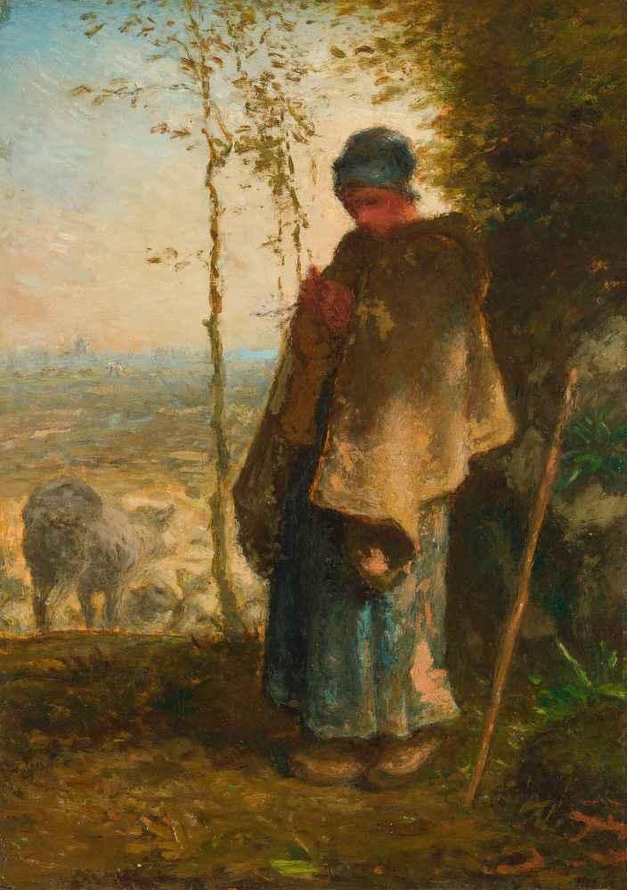 The Little Shepherdess - Jean Francois Millet