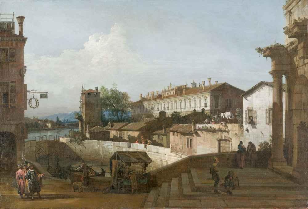 The Lock at Dolo - Canaletto - Bernardo Bellotto