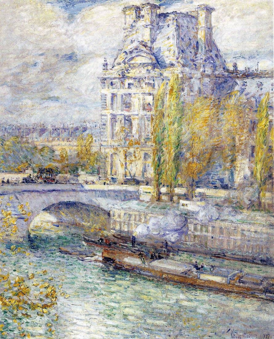 The Louvre on Pont Royal - Hassam