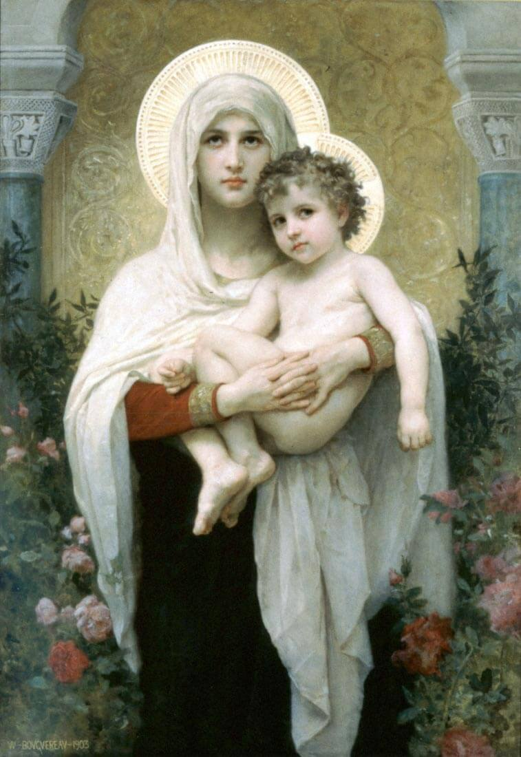 The Madonna of the Roses - Bouguereau