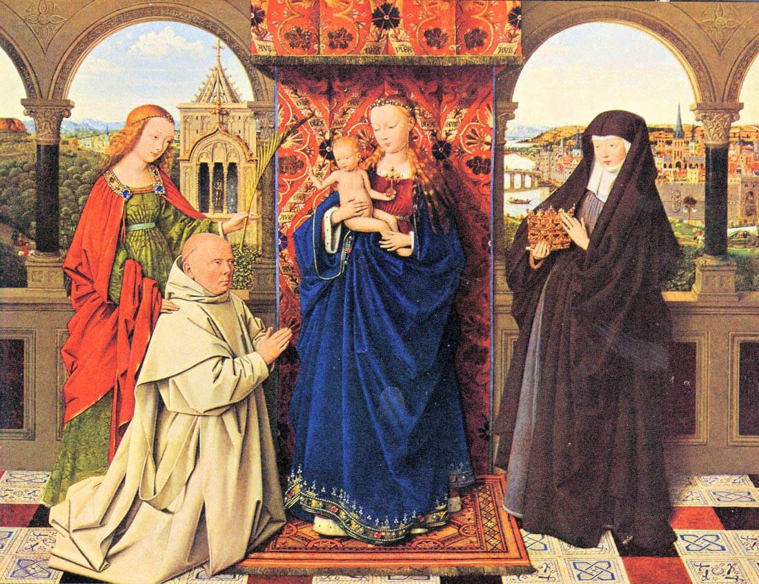 The Madonna with the Carthusians - Jan Van Eyck