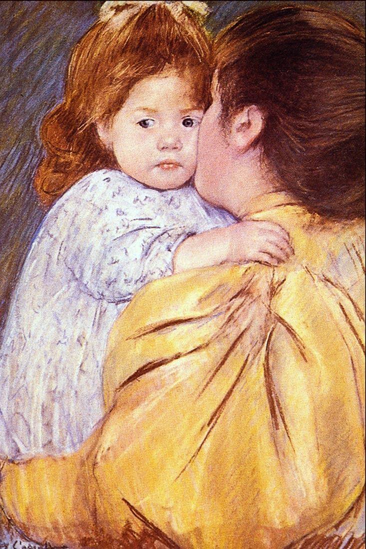The Maternal Kiss - Cassatt