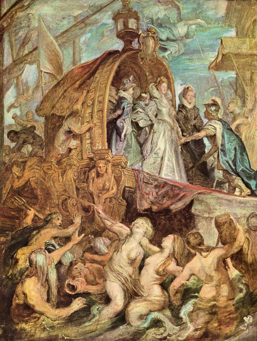 The Medicis Arriving in Marseille, sketch - Rubens